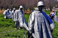 Washington, gelijkstroom: Koreaans Oorlogsgedenkteken Royalty-vrije Stock Foto