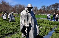 Washington, gelijkstroom: Koreaans Oorlogsgedenkteken Stock Afbeeldingen