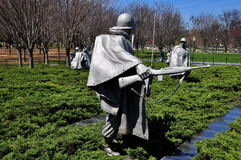 Washington, gelijkstroom: Koreaans Oorlogsgedenkteken Royalty-vrije Stock Fotografie