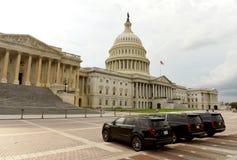 Washington, gelijkstroom - 31 Mei, 2018: Zwarte auto's voor Verenigde Sta Royalty-vrije Stock Fotografie