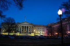 Washington, gelijkstroom-Nacht Stock Afbeelding