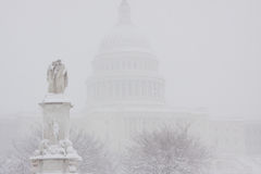 Washington, Gleichstrom-Blizzard Lizenzfreie Stockfotos