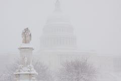 Washington, Gleichstrom-Blizzard lizenzfreie stockfotos