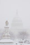Washington, Gleichstrom-Blizzard Lizenzfreies Stockbild