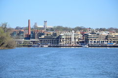 Washington Harbor View från färjan Fotografering för Bildbyråer