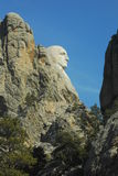 Washington Head. Head profile shot of George Washington at Mount Rushmore stock image
