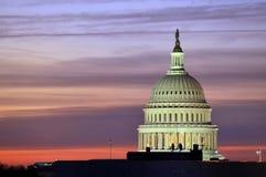 Washington, het Capitool van gelijkstroom Stock Fotografie