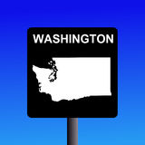 Washington highway sign Stock Photo