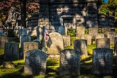 Washington Irving Grave - schläfrige Höhle, NY Stockfotos