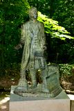 Washington Irving Statue. Granada - Spain stock photo