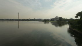 Washington and Jefferson Memorial stock video footage