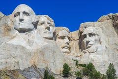 Washington Jefferson Roosevelt och Lincoln på slutsten South Dakota arkivbilder