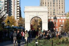 Washington kvadrerar parkerar NYC Fotografering för Bildbyråer