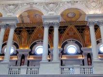 Washington library of Congress round windows 2013 Royalty Free Stock Image
