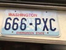 Washington License-plaat Stock Fotografie