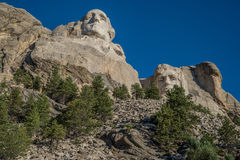Washington and Lincoln carvings at Mount Rushmore Royalty Free Stock Photos