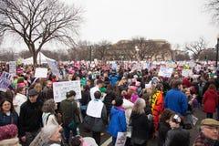 Washington, los E 21 de enero de 2017 ` S marzo de las mujeres en Washington Fotografía de archivo