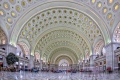 WASHINGTON, los E.E.U.U. - 24 de junio de 2016 - opinión interna de la estación de la unión de la C.C. de Washington sobre hora o Foto de archivo libre de regalías