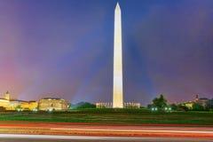 Washington, los E.E.U.U., Washington Monument es un obelisco en la nación fotografía de archivo