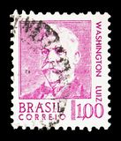 Washington Luiz Pereira de Souza 1869-1957, Politics serie, circa 1968. MOSCOW, RUSSIA - FEBRUARY 10, 2019: A stamp printed in Brazil shows Washington Luiz stock photos