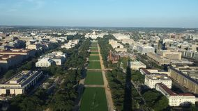 Washington Mall. And the capitol and museum royalty free stock images