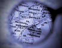 Washington map Stock Image