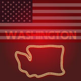 Washington map, part of the United States of America, Vector illustration Royalty Free Stock Photography