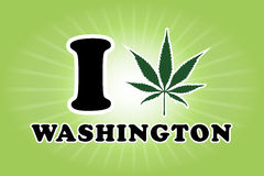 Washington marijuana leaf Royalty Free Stock Photos