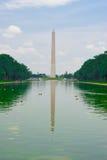 Washington memorial. US Mall: Washington memorial and its reflection Royalty Free Stock Image