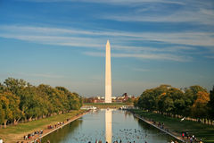 Washington Memorial. A wide view of the George Washington memorial in Washington DC Royalty Free Stock Photography