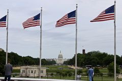 Washington Memorial Kapitolium som bygger USA Arkivfoton