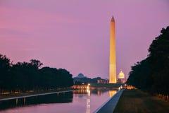 Washington Memorial monument i Washington, DC Royaltyfria Bilder
