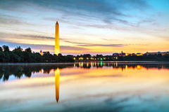 Washington Memorial monument in Washington, DC. In the morning royalty free stock image