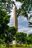 Washington Memorial During Spring Stock Photo