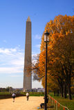 Washington Monument. Washington DC in the fall Royalty Free Stock Photo