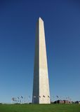 Washington monument. Scenic view of Washington monument with blue sky background; U.S.A stock photography