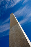 Washington Monument. A bottom-up view of the Washington Monument as it stretches up towards the sky Royalty Free Stock Image
