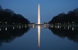 Washington monument. Reflection of the Washington Monument at dusk Royalty Free Stock Images