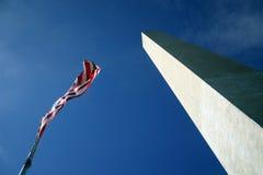Washington Monument. From ground level royalty free stock photo