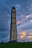 Washington Monument après une tempête Photos libres de droits
