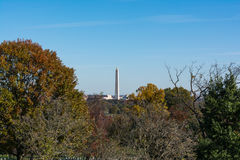 Washington Monument from Arlington Cemetery Trees Autumn Park Ou Royalty Free Stock Photography