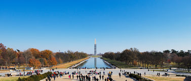 The Washington Monument as seen from the Lincoln Memorial in Washington DC, USA Stock Images