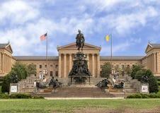 Washington Monument av Rudolf Siemering, Benjamin Franklin Parkway på den Eakins ovalen, Philadelphia, Pennsylvania fotografering för bildbyråer