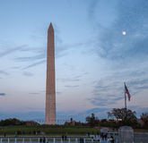 Washington Monument behind the Fountain at the World War II Memorial Stock Image
