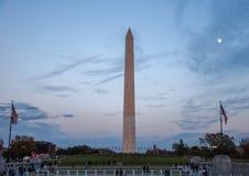 Washington Monument behind the Fountain at the World War II Memorial Royalty Free Stock Photos