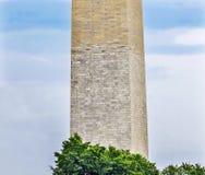 Washington Monument Brick Change Civil War Washington DC Stock Images