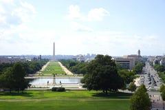 Washington monument from Capitol balcony Stock Images