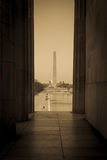 Washington Monument and Capitol Hill Royalty Free Stock Photo