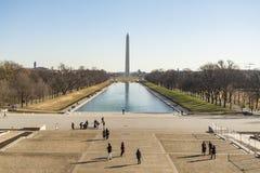 Washington Monument con el obelisco Fotografía de archivo libre de regalías