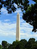 Washington Monument in Washington, D.C. A tall monument honoring Abraham Lincoln rests on the national mall in Washington, D.C Royalty Free Stock Photo